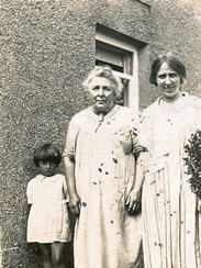 Ellen Thomas, Emma Griffith and Mary Clarke